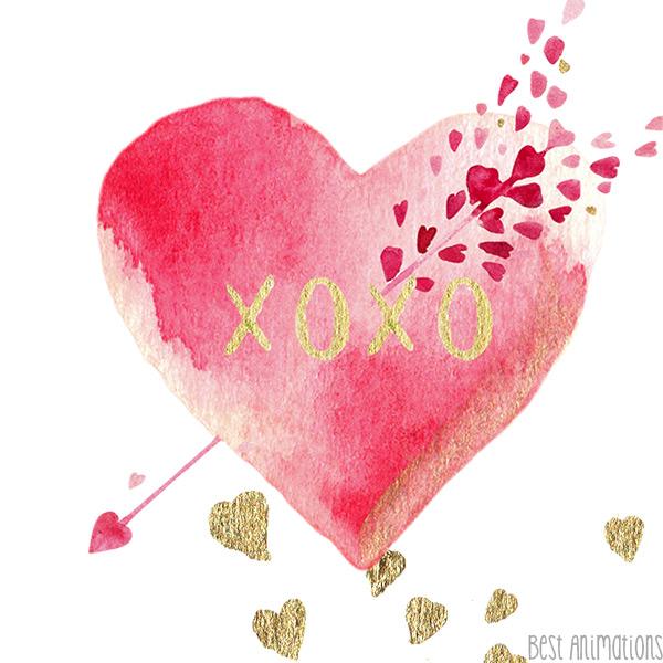 XOXO Heart Arrow Hipster