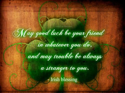 Irish Saying Clover Leaf