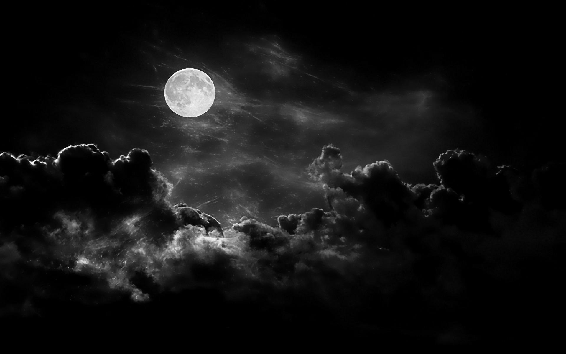 Black clouds With Moon